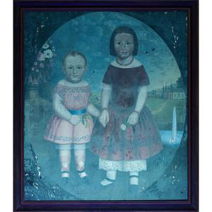 South Carolina Folk Art Painting by J. Fish, Oil on Canvas