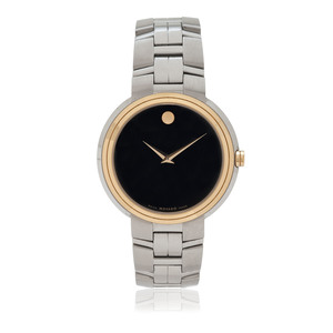 Movado Luno Two-Tone Stainless Steel Museum Wrist Watch