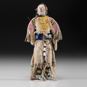 Central Plains Beaded Hide Doll
