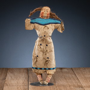 Northern Plains Beaded and Quilled Hide Doll