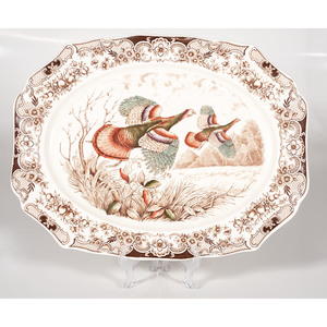 Johnson Brothers Platter, Windsor Ware Wild Turkeys