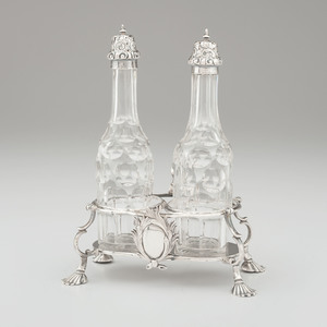 Georgian Sterling Cruet Stand