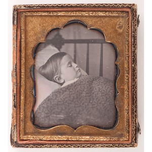 Postmortem Daguerreotype of a Child in Bed
