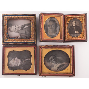 Five Postmortem Daguerreotypes of Men