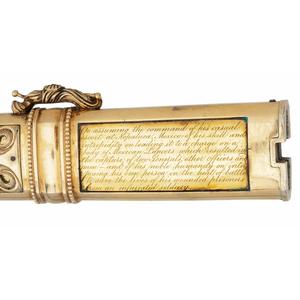 Cased Presentation Sword to Surgeon Elisha K. Kane, USN - Mexican War Hero and Famous Arctic Explorer