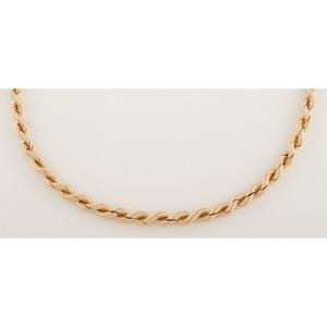 14 Karat Yellow Gold Rope Chain
