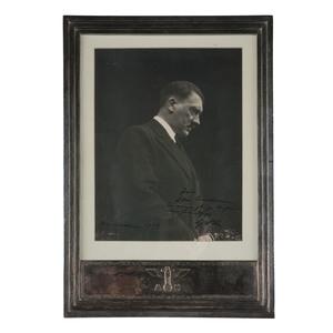 Formal Sterling Silver Presentation Frame with Signed Photograph of Adolf Hitler