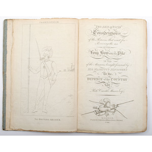 [Sporting - Archery - Longbow - 19th Century] Richard Oswald Mason's Treatise on the Revival of the Longbow, 1798 with Two Folding Plates