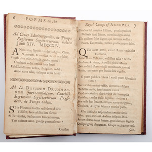 [Sporting - Archery - 18th Century Poetry] Poems in English and Latin on Archers and the Royal Company - 1726