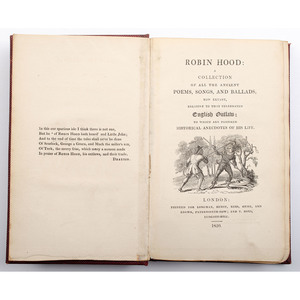 [Sporting Literature - Robin Hood] Published in 1820 as a Complement to