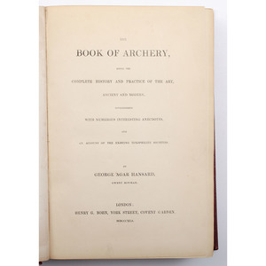 [Sporting - Archery - 19th Century] Hansard's