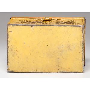 Fine Yellow Toleware Box