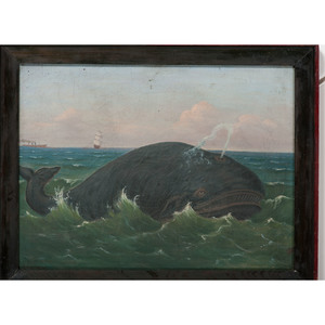 Folk Art Painting of a Whale