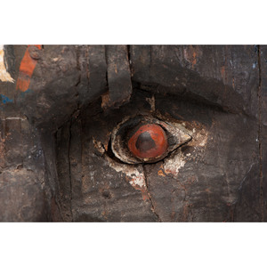 Monumental Folk Art Carved Indian Head
