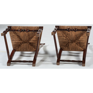 Pair of American Queen Anne Chairs