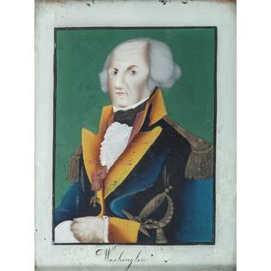 Reverse-Painted Portrait of George Washington