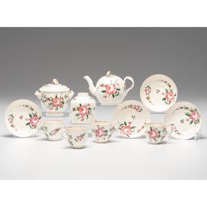 English Creamware Rose Pattern Tea Service