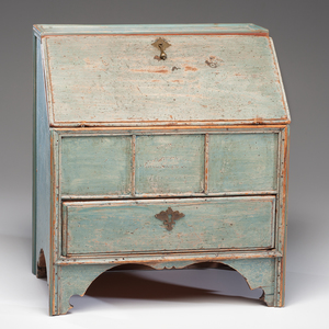 Eighteenth Century Painted Valuables Chest