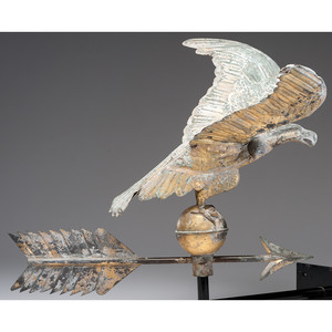 Gilt Eagle Weathervane with Directional