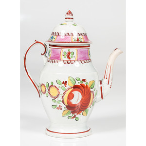 King's Rose Soft Paste Coffee Pot