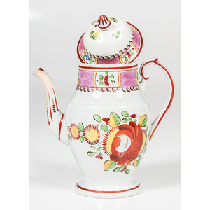 King's Rose Soft Paste Coffee Pot