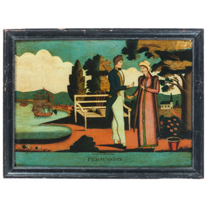 Glass Transfer Paintings  Persuasion & Happiness, After Gerolimo