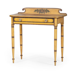 New England Painted Sheraton Dressing Table