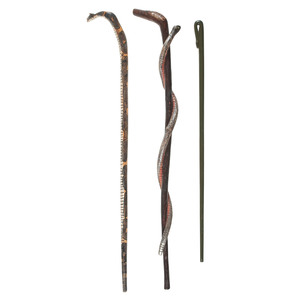 Folk Art Polychrome Snake Canes