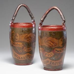 Identified Massachusetts Leather Fire Buckets
