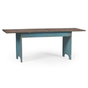 Ohio Farm Table in Blue Paint