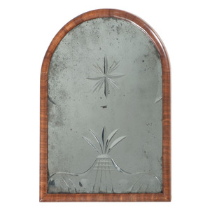 Queen Anne Mirror with Etched Plate