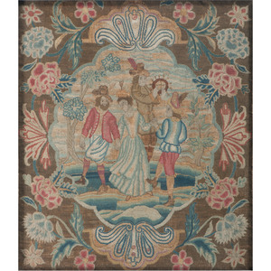 Early Needlework with Dancers