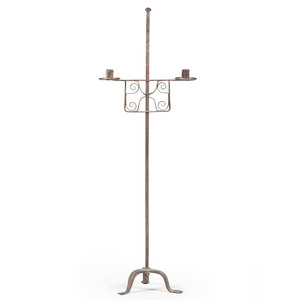 Wrought Iron Double Candlestand