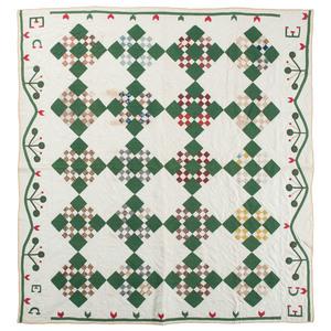 Nine Patch Piecework Quilt