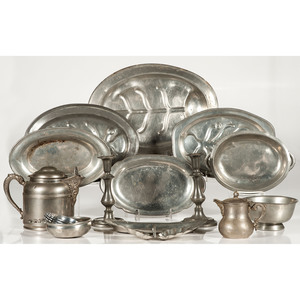 Pewter Trays, Porringers and Other Tablewares