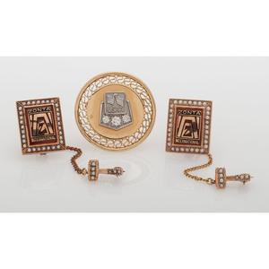 Pins in Karat Gold, Lot of Three