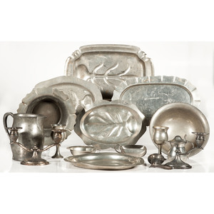 Pewter Bowls, Trays and Other Tableware