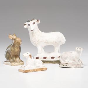 Chalkware Animal Figures