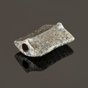 A Polished Green Granite Saddleface Bannerstone, 2-3/4 in