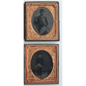 Lot of Four Images of Drummers, including Soldiers