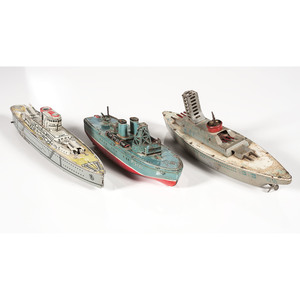 Tin Lithograph Toy Ships