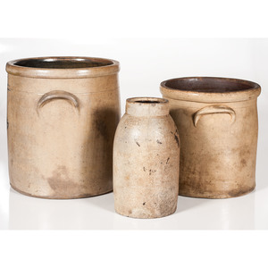 Stoneware Crocks and Jar