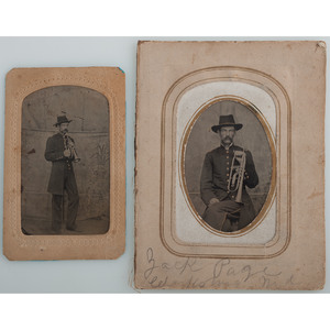 Two Tintypes of John T. Page, 67th Ohio Infantry