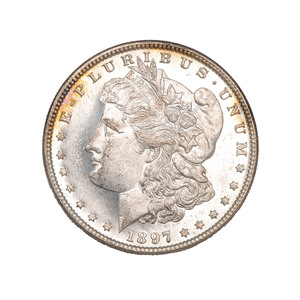 United States Morgan Silver Dollar 1897