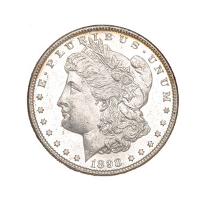 United States Morgan Silver Dollar 1898