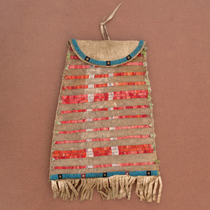 Sioux Beaded and Quilled Hide Bag