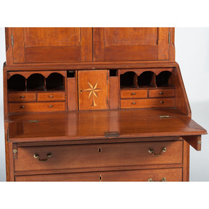 Inlaid Kentucky Desk and Bookcase Purportedly Owned by Isaac Shelby