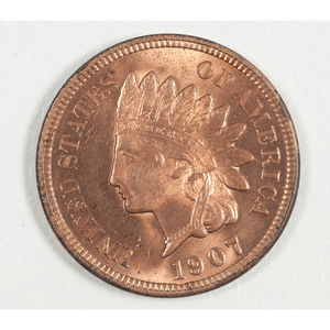 United States Indian Head Penny 1907