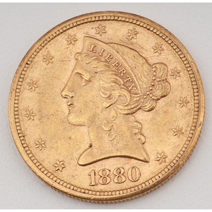 United States Liberty Head Half Eagle 1880-S