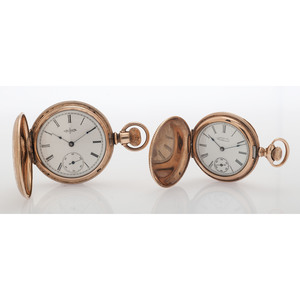 Waltham and Elgin Gold Filled Hunter Case Pocket Watches